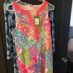 NWT Lilly Pulitzer Lover's Coral Ryder Shift dress